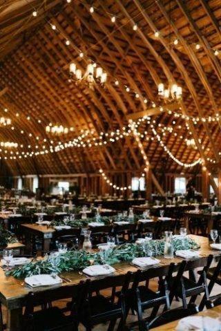 Rustykalne wesele - światła
