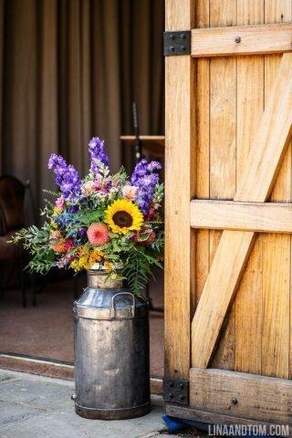 Rustykalne wesele - kwiaty
