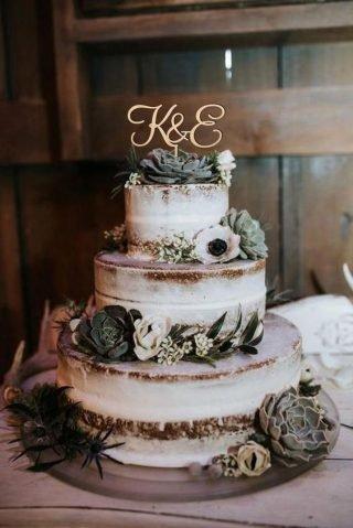 Rustykalne wesele - tort