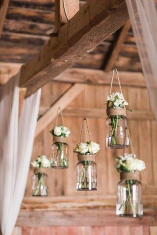 Wesele w stodole - kwiaty