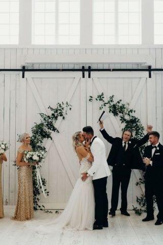 Rustykalne wesele - para młoda
