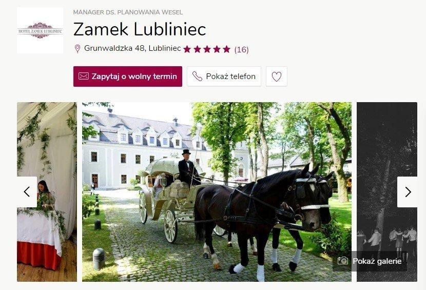 Wesele w zamku - Zamek Lubliniec