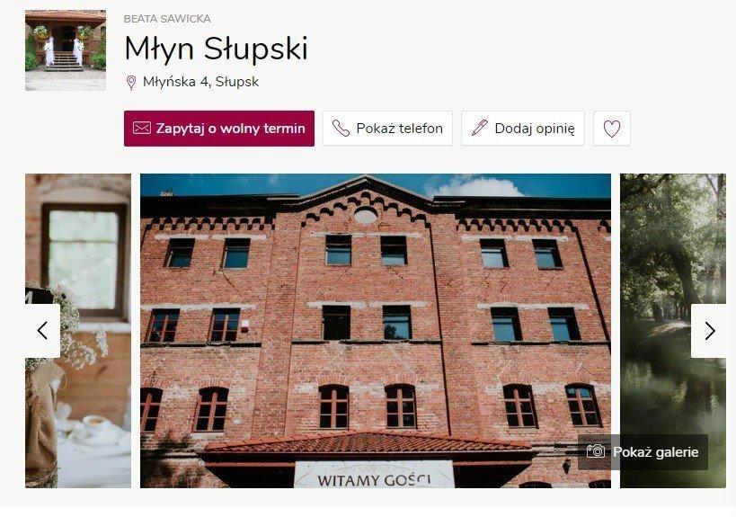 Wesele w zamku - Zamek Młyn Słupski