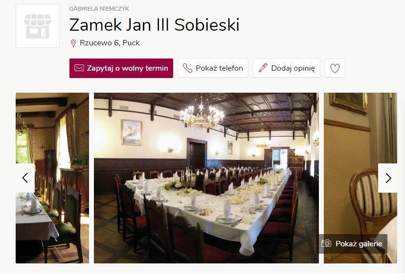 Wesele w zamku - Zamek Jan III Sobieski