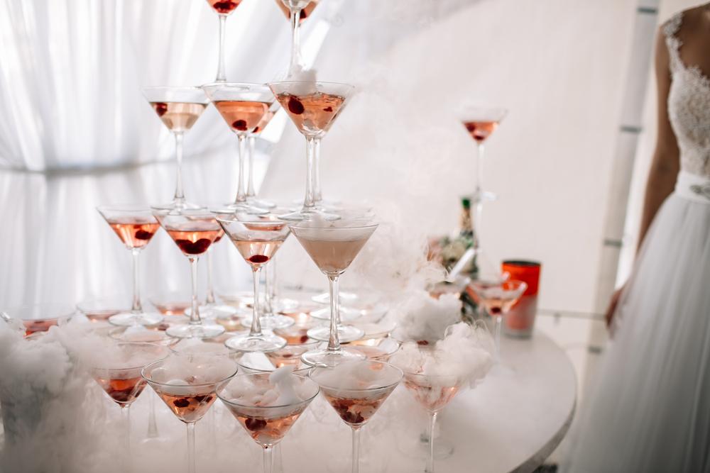 weselny bufet z alkoholem
