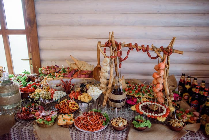 wiejski stół produkty