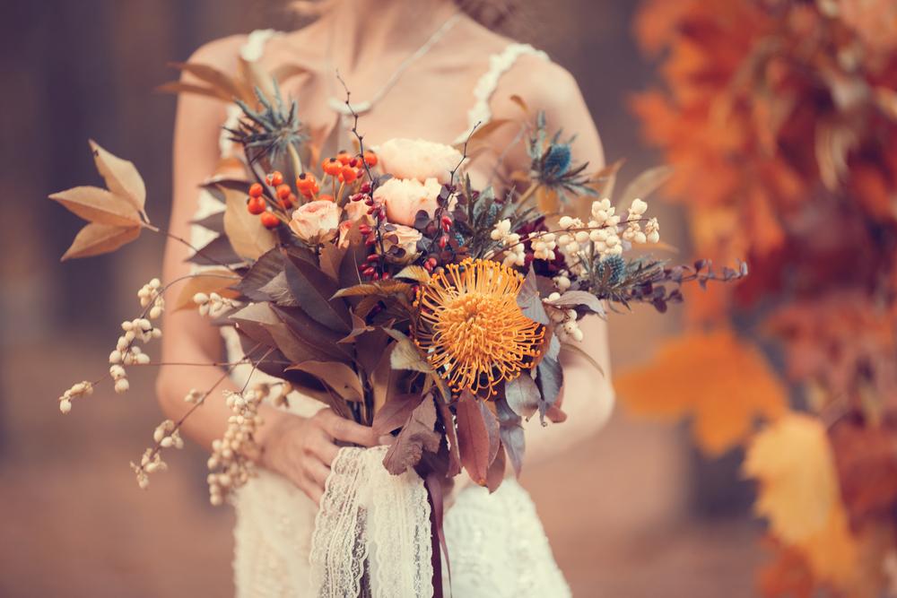 wrześniowy bukiet ślubny - zdjęcie 3