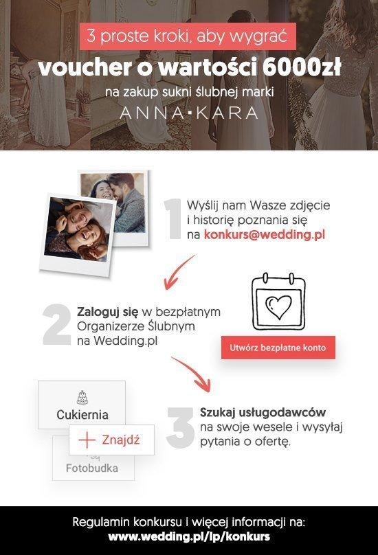 wygraj suknię ślubną - infografika
