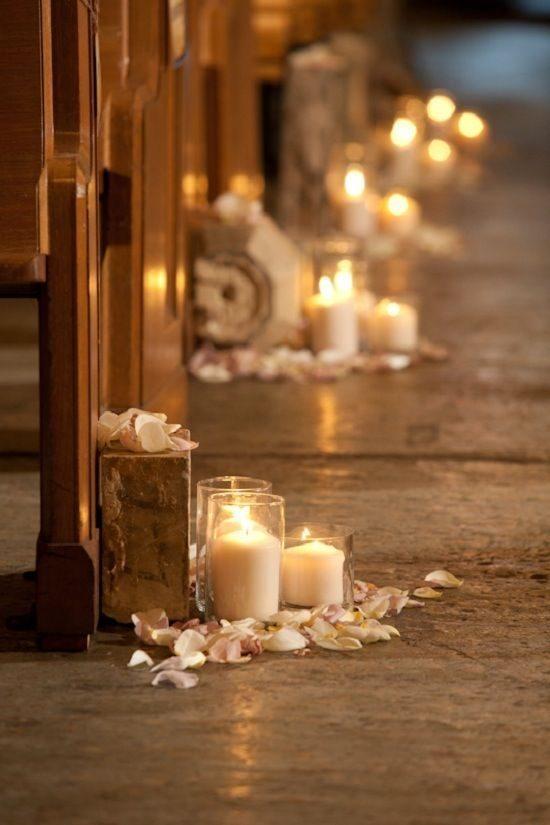 Wystrój kościoła na ślub - świece - zdjęcie 1