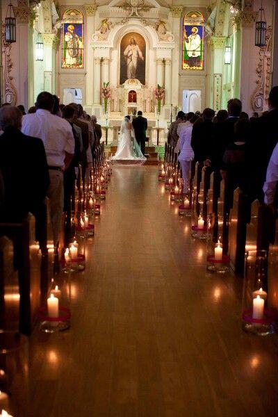 Wystrój kościoła na ślub - świece - zdjęcie 2