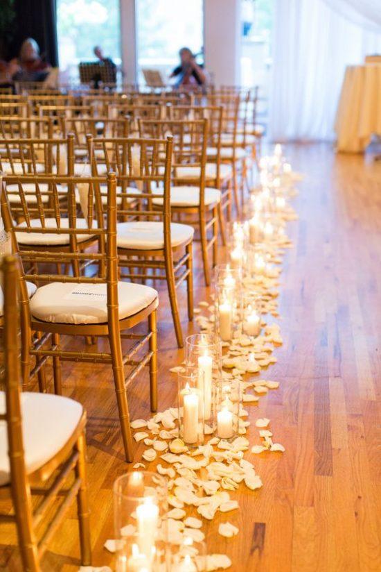 Wystrój kościoła na ślub - świece - zdjęcie 3