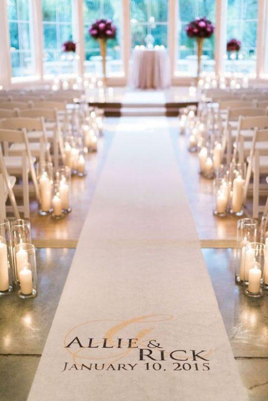 Wystrój kościoła na ślub - dywan - zdjęcie 1