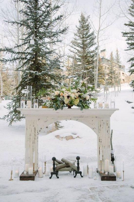 Zimowe dekoracje weselne - zdjęcie 11