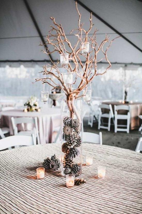 Zimowe dekoracje weselne - zdjęcie 15