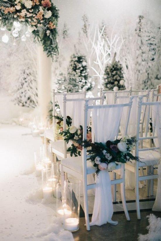 Zimowe dekoracje weselne - zdjęcie 2