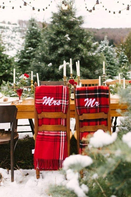 Zimowe dekoracje weselne - zdjęcie 3