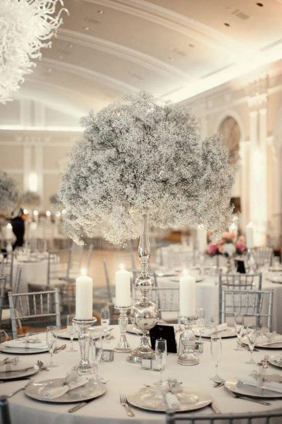Zimowe dekoracje weselne - zdjęcie 31