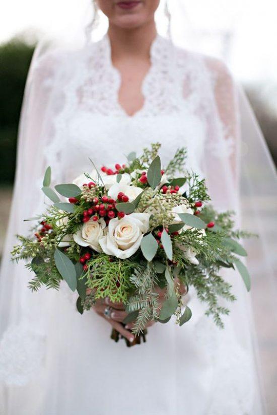 Zimowe dekoracje weselne - zdjęcie 40