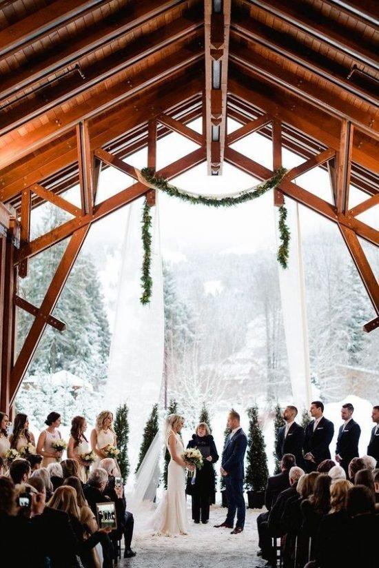 Zimowe dekoracje weselne - zdjęcie 46