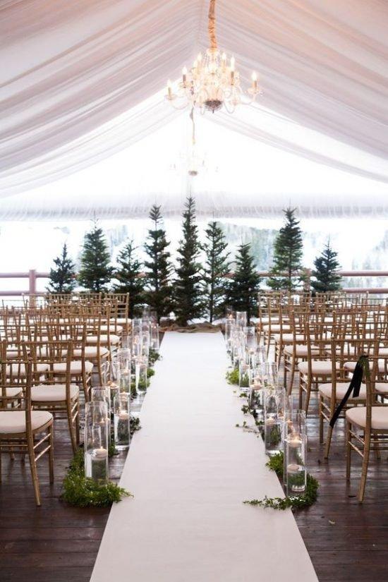 Zimowe dekoracje weselne - zdjęcie 7
