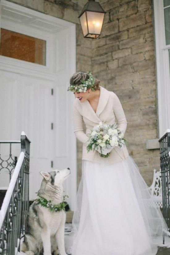 Zimowe dekoracje weselne - Panna Młoda - zdjęcie 9