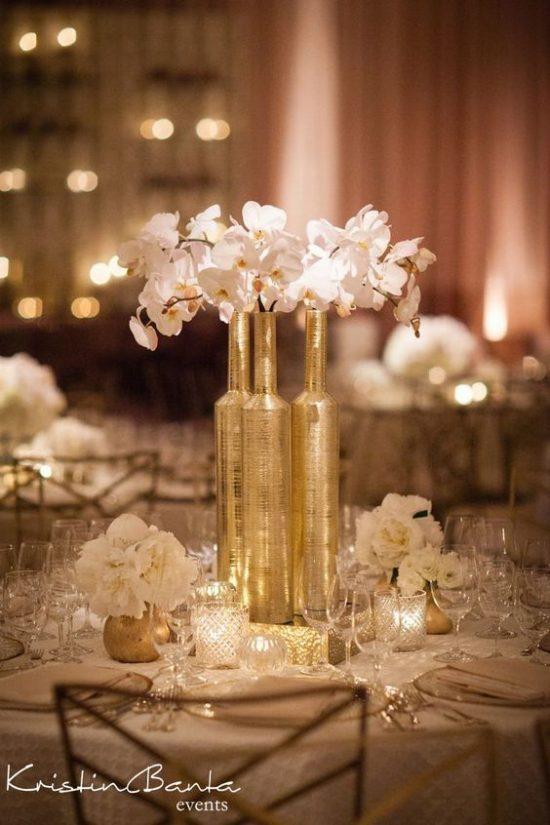Złoty jako motyw przewodni wesela - zdjęcie 1