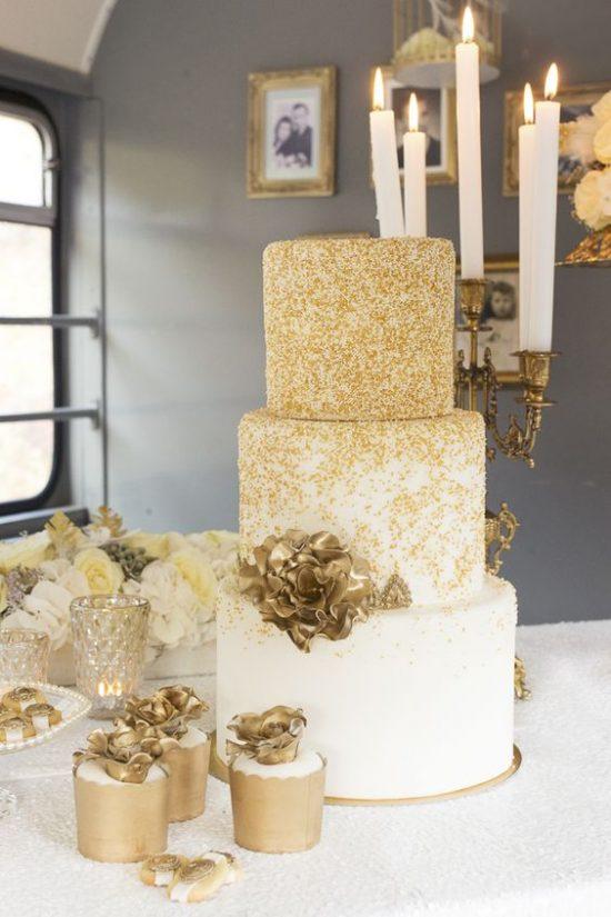 Złoty jako motyw przewodni wesela - zdjęcie 10