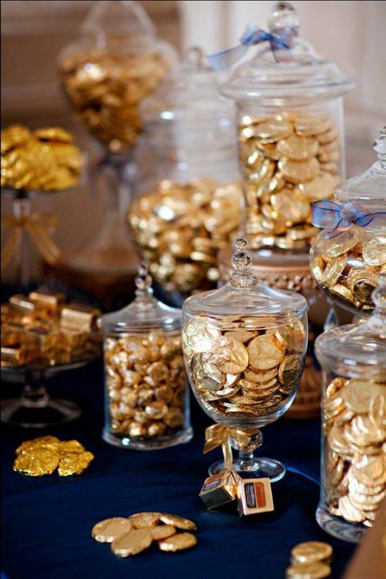 Złoty jako motyw przewodni wesela - zdjęcie 12