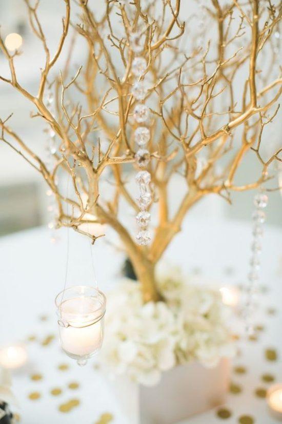 Złoty jako motyw przewodni wesela - zdjęcie 3