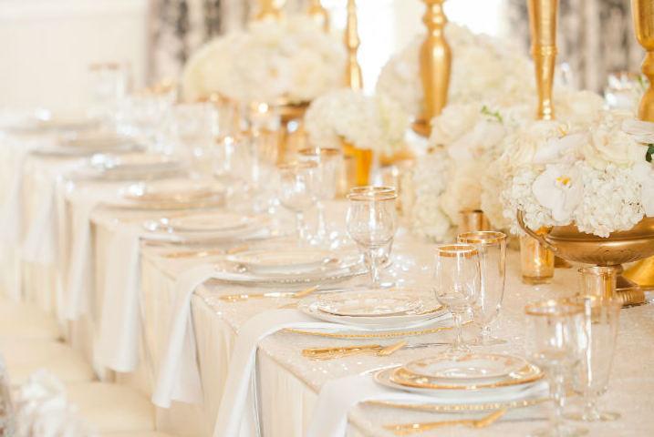 Złoty jako motyw przewodni wesela - zdjęcie 30